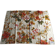 "True Vintage Large Sample Piece Linen S. Harris 36"" by 46"" 1960's 1970's"