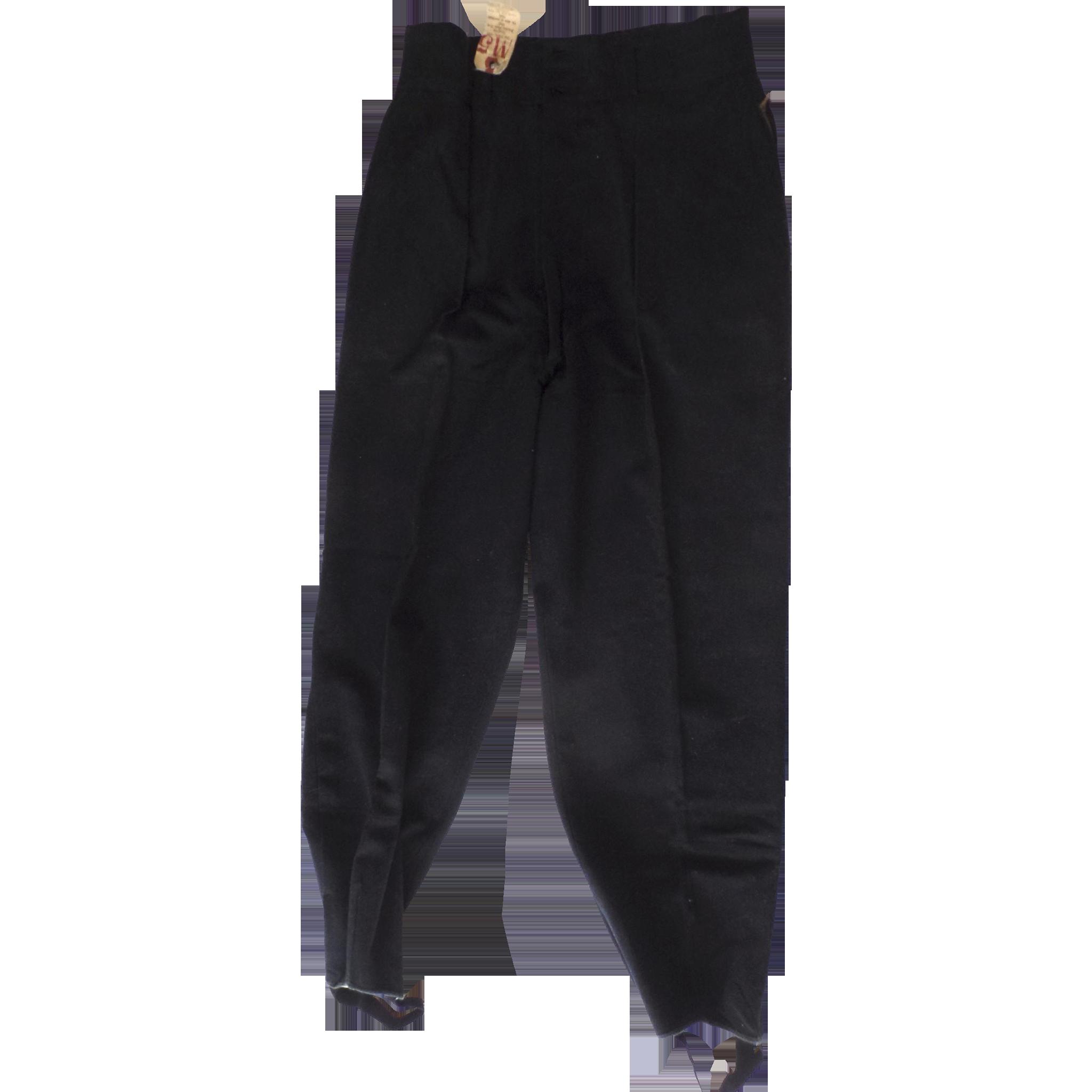 Vintage Men S 100 Wool Navy Ski Pants Stirrup 1950 S With