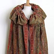 Vintage Paisley Shawl Cape Coat