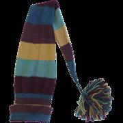 "True Vintage Knit Stocking Hat Cap 54"" Long"