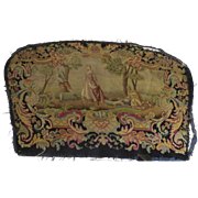 Large piece of Needlepoint Petit Point French Scene 19th Century