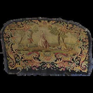 Large piece of Needlepoint Petit Point French Scene 19th Century