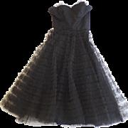 1950's Vintage Fred Perlberg Tulle Strapless Dress