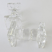Pair of Crystal Knife Rests