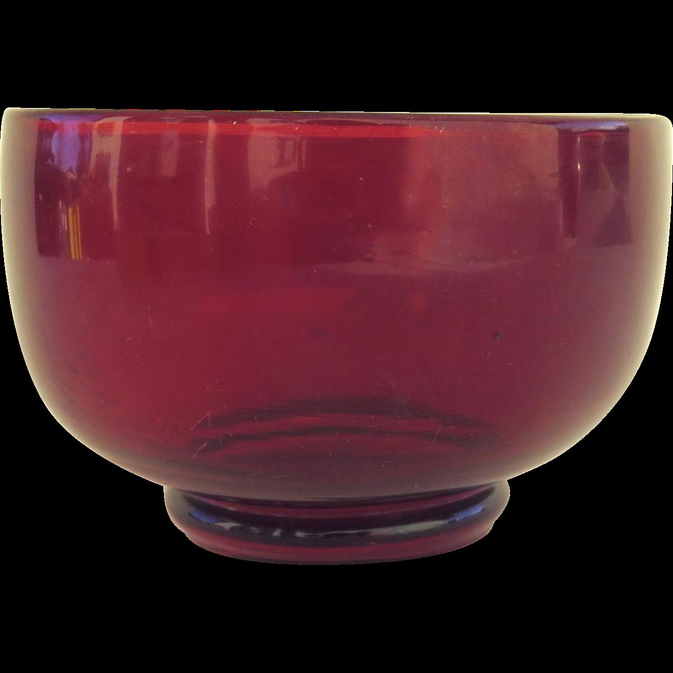 1900's Red Glass Finger Bowl