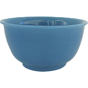 Vintage French Blue Opaline Bowl
