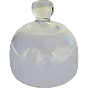 Vintage Small Glass Etched Food Butter Dome