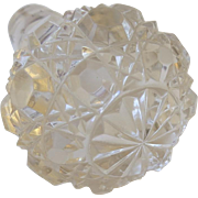 Vintage Cut Crystal Decanter Stopper