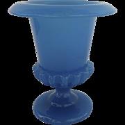 Vintage 1930's French Opaline Blue Urn Shaped Vase