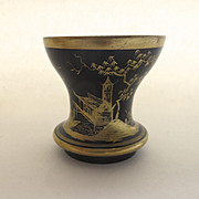 Bohemian Goblet with Gilt Chinoiserie Decoration