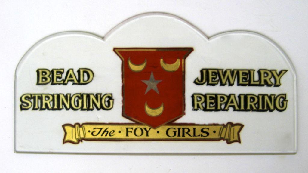 Beveled Glass Jewelry Repair Sign