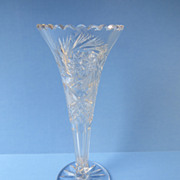 American Brilliant Cut Glass Vase