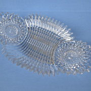 American Brilliant Cut Glass Celery Dish Bowl
