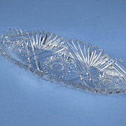 American Cut Glass Brilliant Celery Bowl Dish 1900