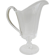 Vintage Steuben Cream Milk Pitcher Applied Handle Footed