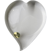 "Beautiful Crystal ""Cristall"" Smooth Heart Paperweight"