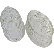 Pair of Vintage Glass Food Jelly Molds