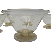 Vintage Venetian Glass Bowls (Set of 11) 20th Century Hand-blown