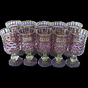Set of Ten MacKenzie Child's Glasses - Red Tag Sale Item