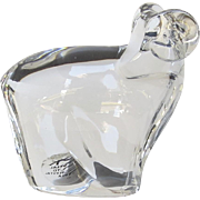 Vintage Dansk Crystal Polar Wildlife Collection by Dansk Abstract Animals By Neil Cohen Ram