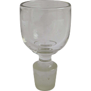 Vintage Stopper with Cup Glass on Top