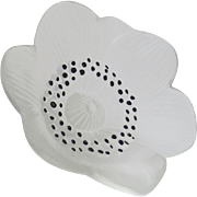 Vintage Lalique Vintage Frosted Glass Anemone Flower
