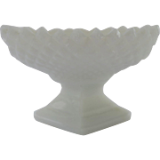 Vintage Westmoreland Milk Glass Open Pedestal Salt Celler