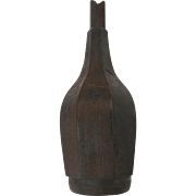 Original 19th Century Wooden Bottle Mold Used at Sandwich Glass Bitters Colone Bottle Huber Pattern Historic 1850