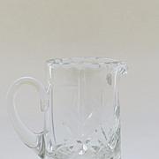 Fine Small Cut Crystal Creamer, Pitcher, Glass, European, Hungary, 20th Century