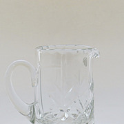 Fine Small Cut Crystal Creamer, Pitcher, Glass, European, Hungary, 20th Century