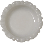 "Vintage Milk Glass Small Dish 4"" Diameter"