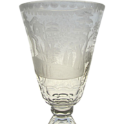 Vintage Tall European Etched Cut Goblet