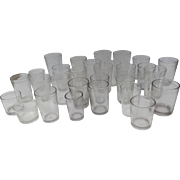 Vintage Collection of 29 Jam Jelly Preserve Jars Glasses