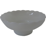 Vintage E. O. Brody Milk Glass Scalloped Edge Bowl