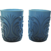 Pair of Late 19th Century Opaline Glasses Tumblers