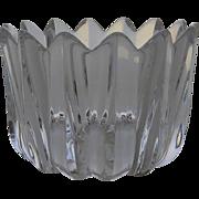 Vintage Orrefors Fleur Crystal Bowl Jan Johansson