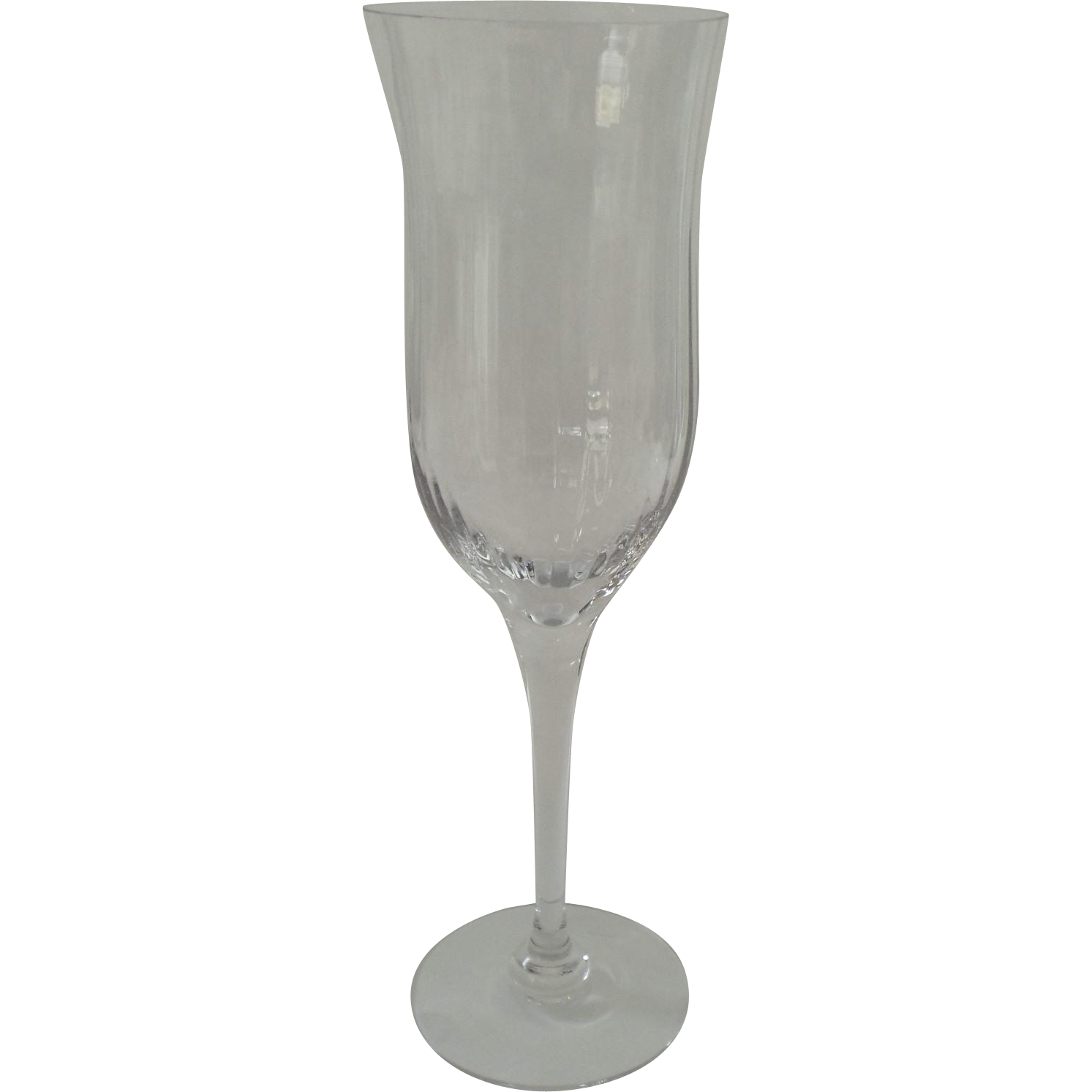 Vintage orrefors harmony fluted water wine crystal goblet glasses 9 from blacktulip on ruby lane - Fluted wine glasses ...