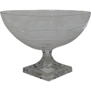 19th Century Small Footed Compote Etched Elegant