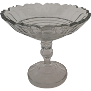 Tall 19th Century Compote Fruit Stand Cut Glass