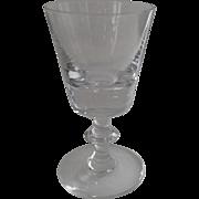"Vintage Val St. Lambert States State Plain Crystal Water Wine 5 1/8"""
