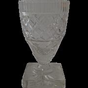 19th Century Anglo Irish Cut Glass Vase Celery
