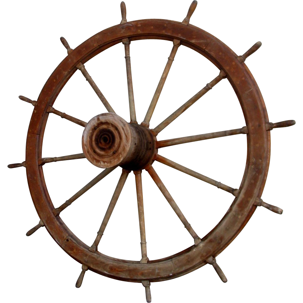 American Large River Ship's Boat Wheel