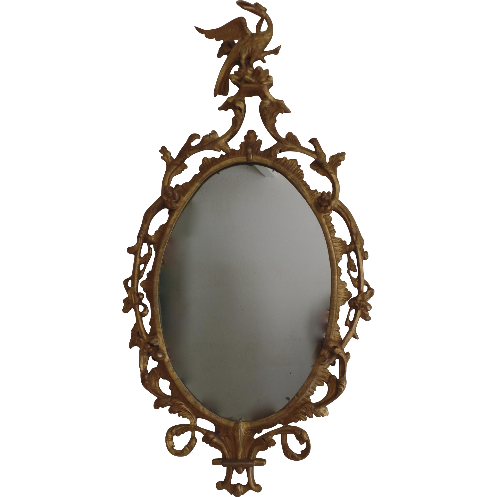 English Georgian Gilt Oval Mirror 19th Century