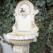 Wonderful 17th Century Italian Renaissance Marble Fountain with Shell Motif