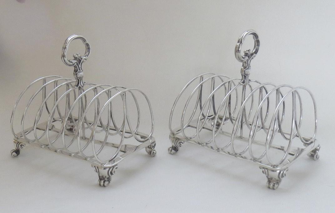 Pair of English Toast Racks