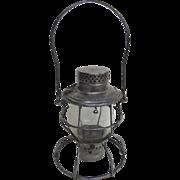 Denver and Rio Grande Western Railroad Clear Globe Etched Lantern by Handlen