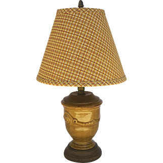 Vintage Pierre Deux Anduze Confit Style Lamp Wood Base and Top French Country