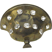 1940's Vintage Brass Wall Sconce Urn-Shaped with Rhinestones