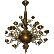 French Large 15 Arm Chandelier
