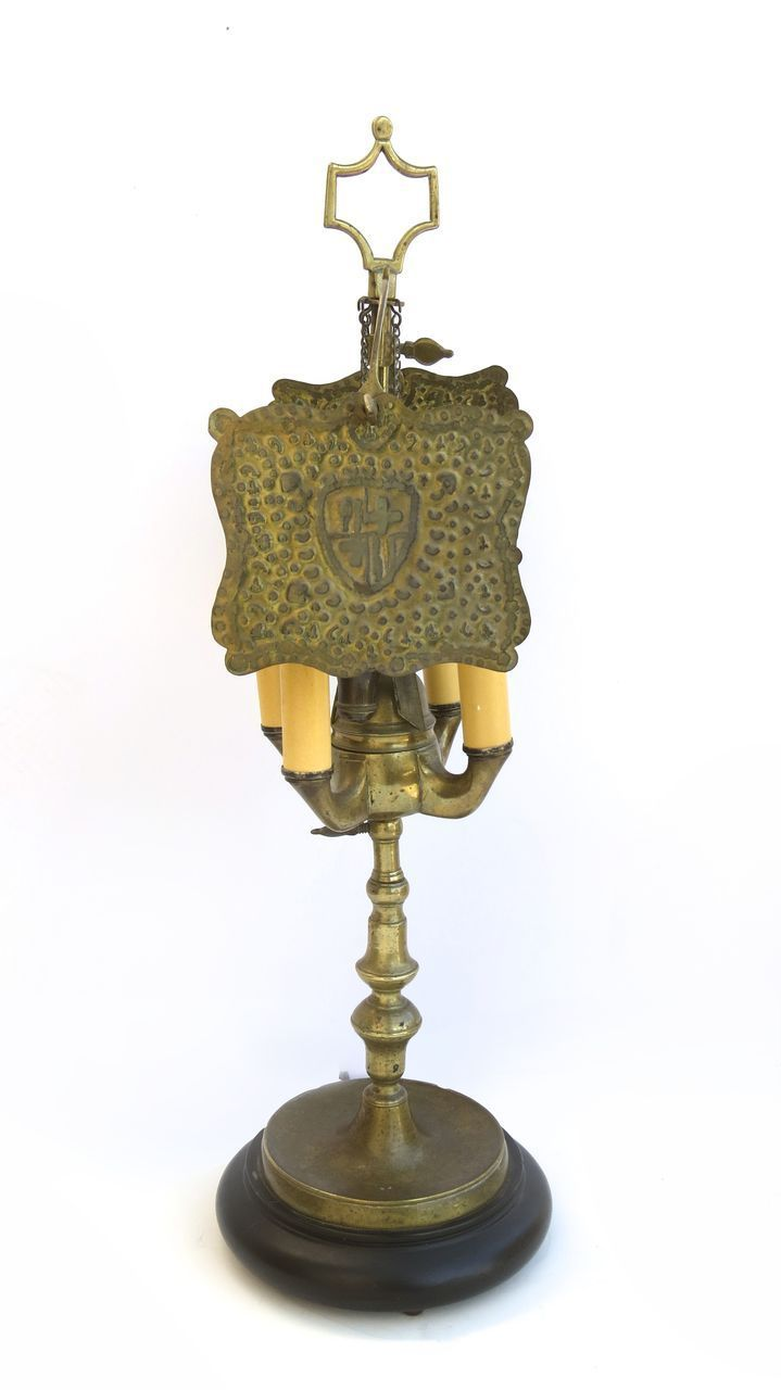 L.222 Four Arm Brass Whale Oil Lamp